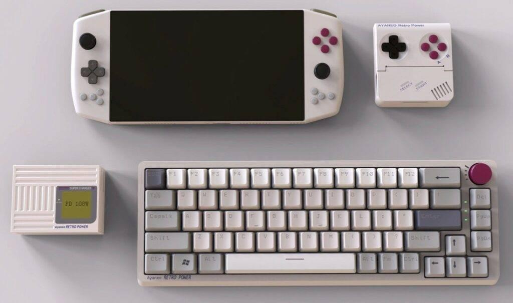 Aya Neo Pro Retro Power and accessories