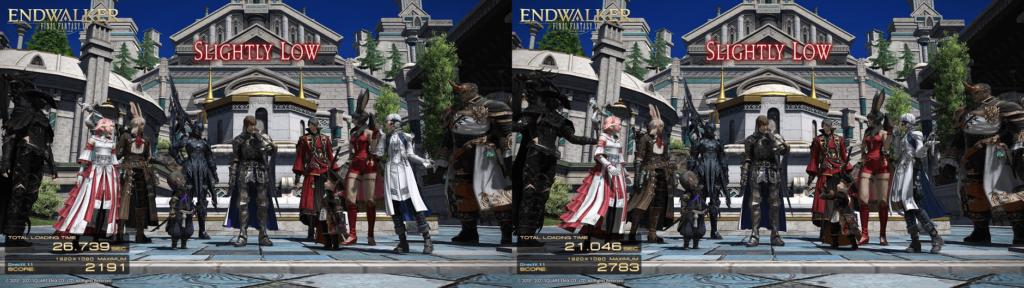 Final Fantasy XIV: Endwalker Benchmark Scores