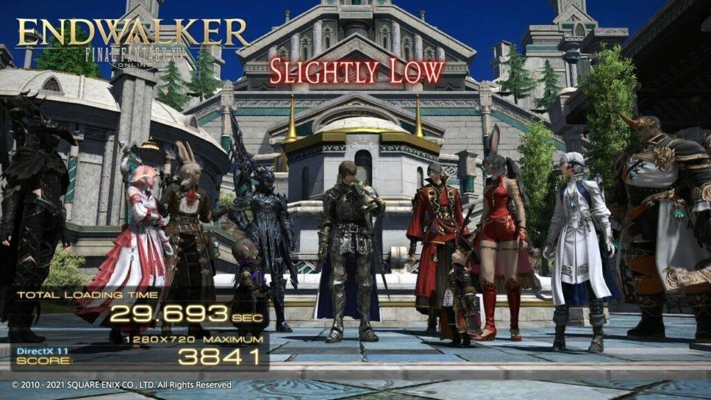 GPD Win MAX 2020 Final Fantasy XIV Score