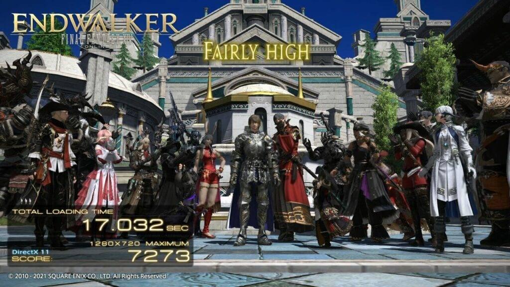 GPD Win MAX 2021 Final Fantasy XIV Score