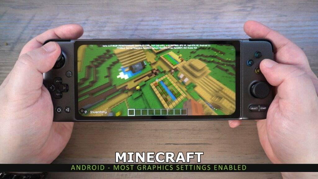 Minecraft on the GPD XP
