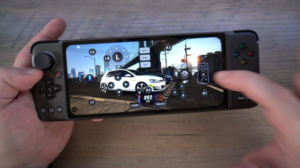 CSR 2 using gamepad to screen mapping