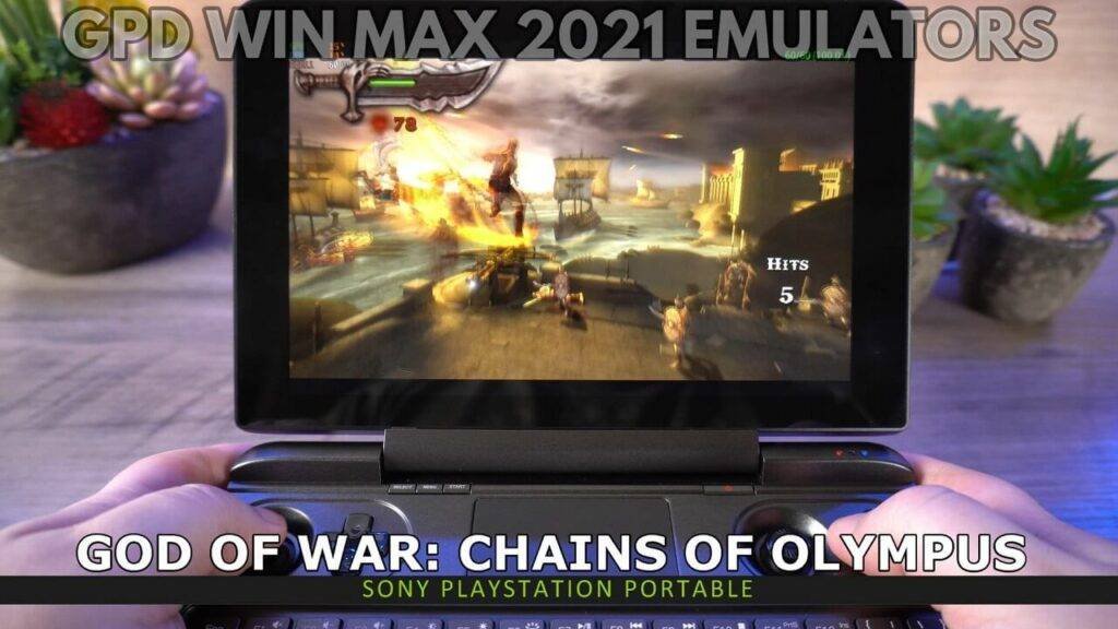 PSP emulation on GPD Win MAX 2021