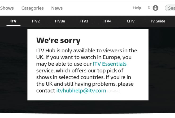ITV Geoblocked