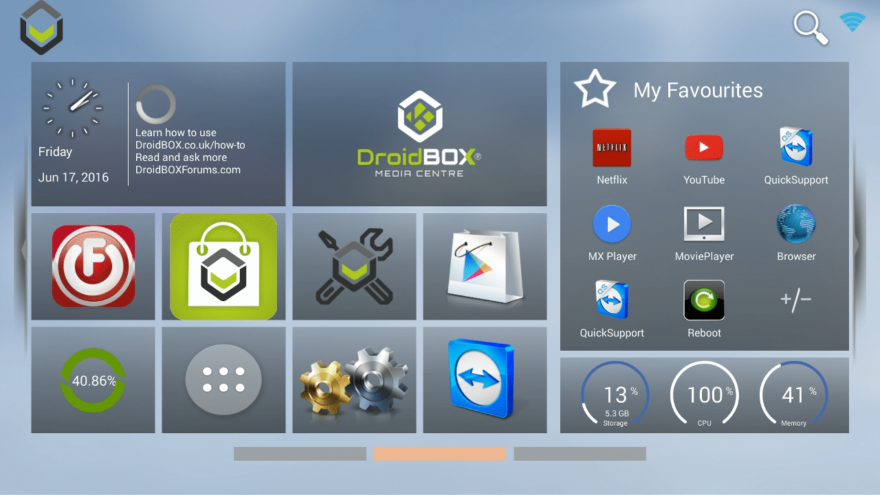 DroidBOX® M5 K5 New Look Launcher