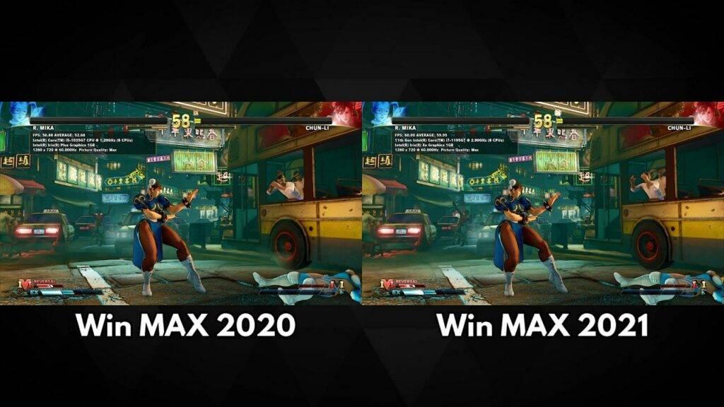 GPD Win MAX 2020 vs 2021 Street Fighter V Benchmarks