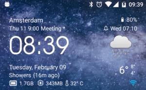 Transparent Weather & Clock Widget