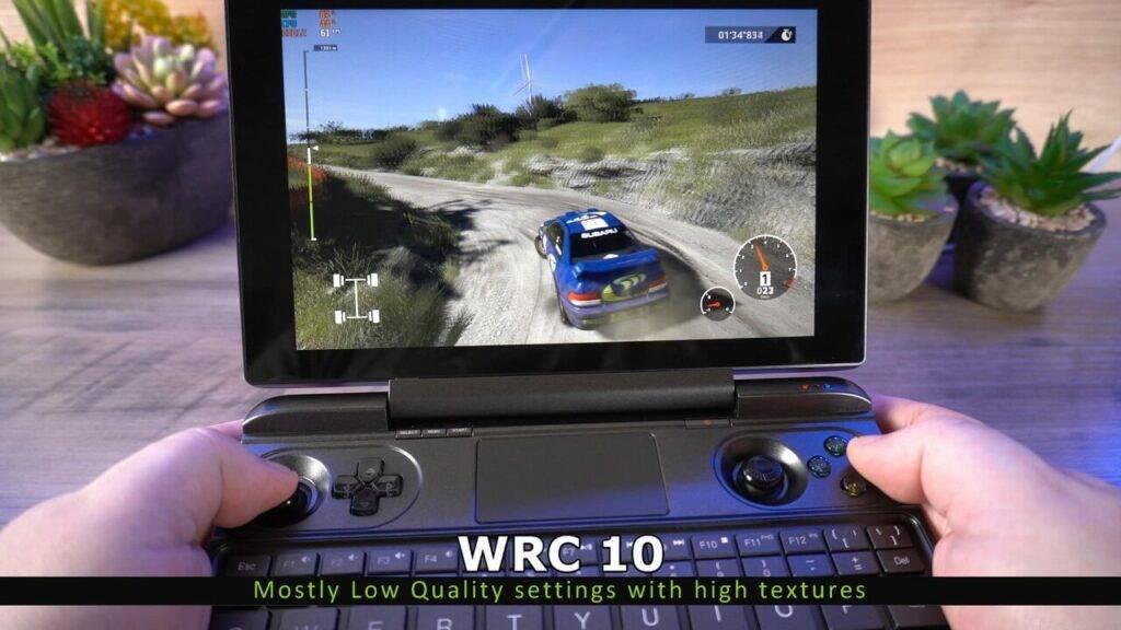 WRC 10 on GPD Win MAX 2021