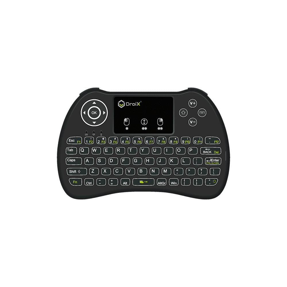 DroiX i9 Mini Keyboard - Shown from Front