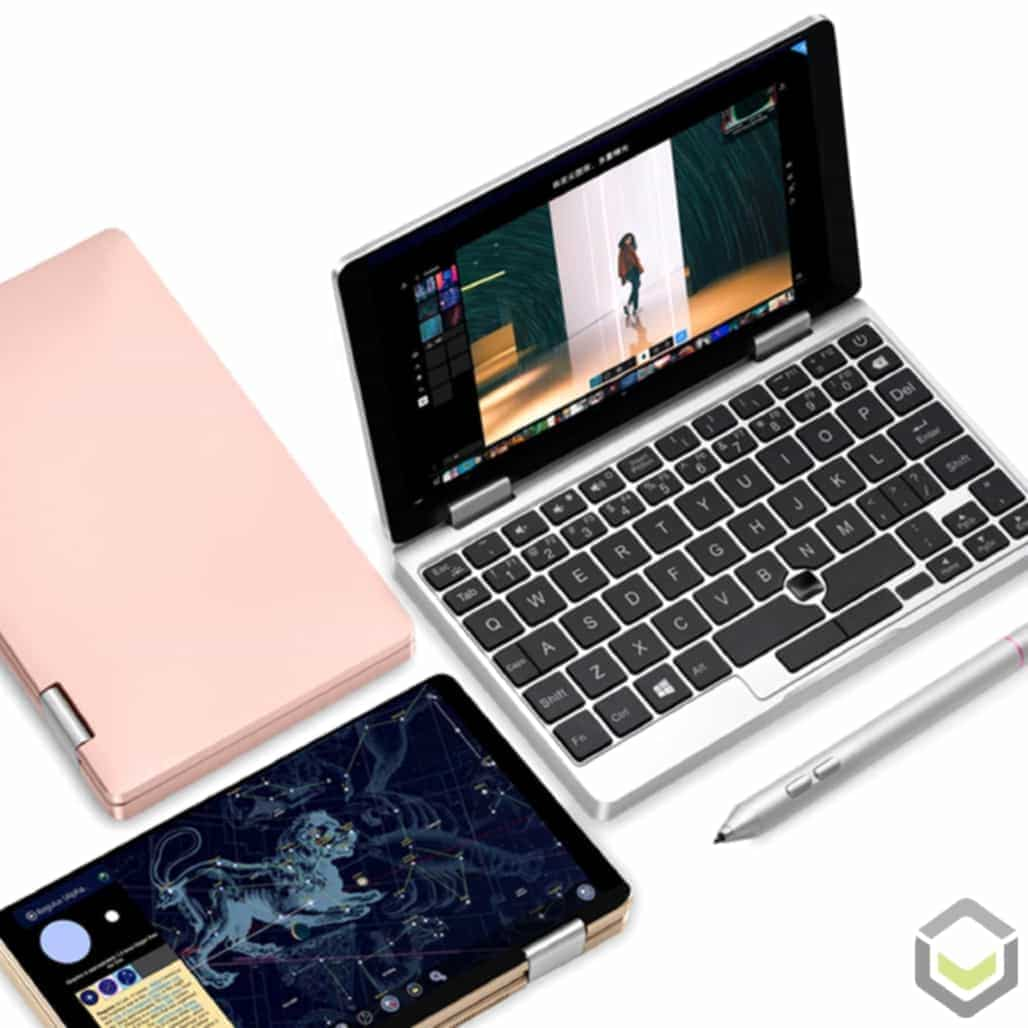 One Netbook Mix 2S 2in1 Laptop in various colours and modes