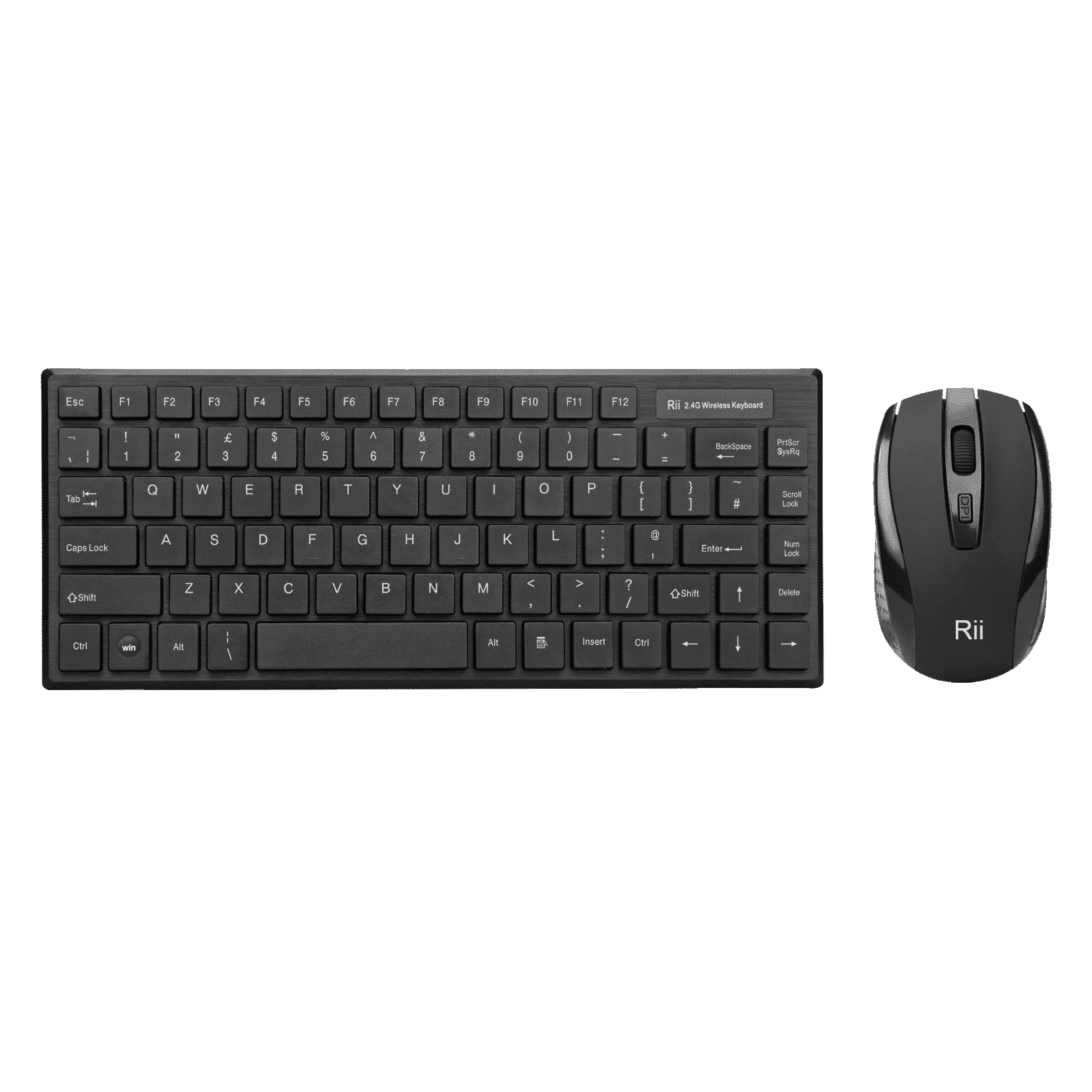 Rii RK700 Wireless Keyboard with Mouse Combo from the front