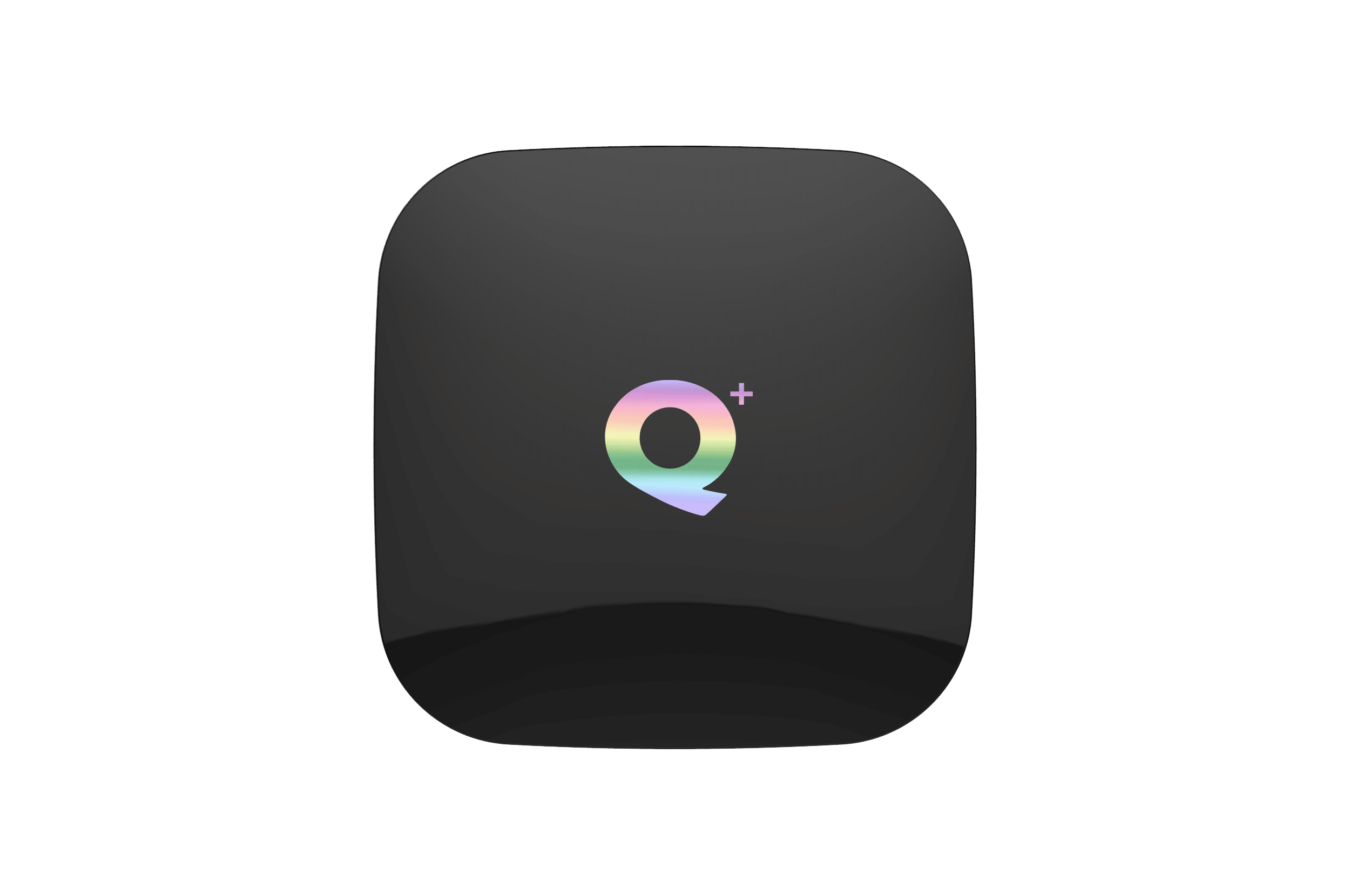 Q Plus H6 Android 8 Oreo Smart Powered TV Box - Top View