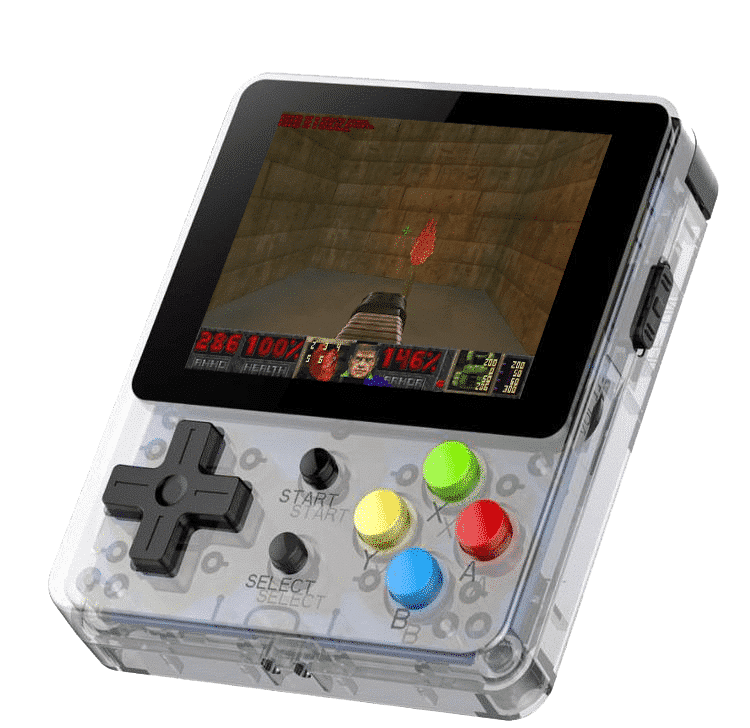 Bittboy LDK Retro Gaming Console Transparent - Playing DOOM
