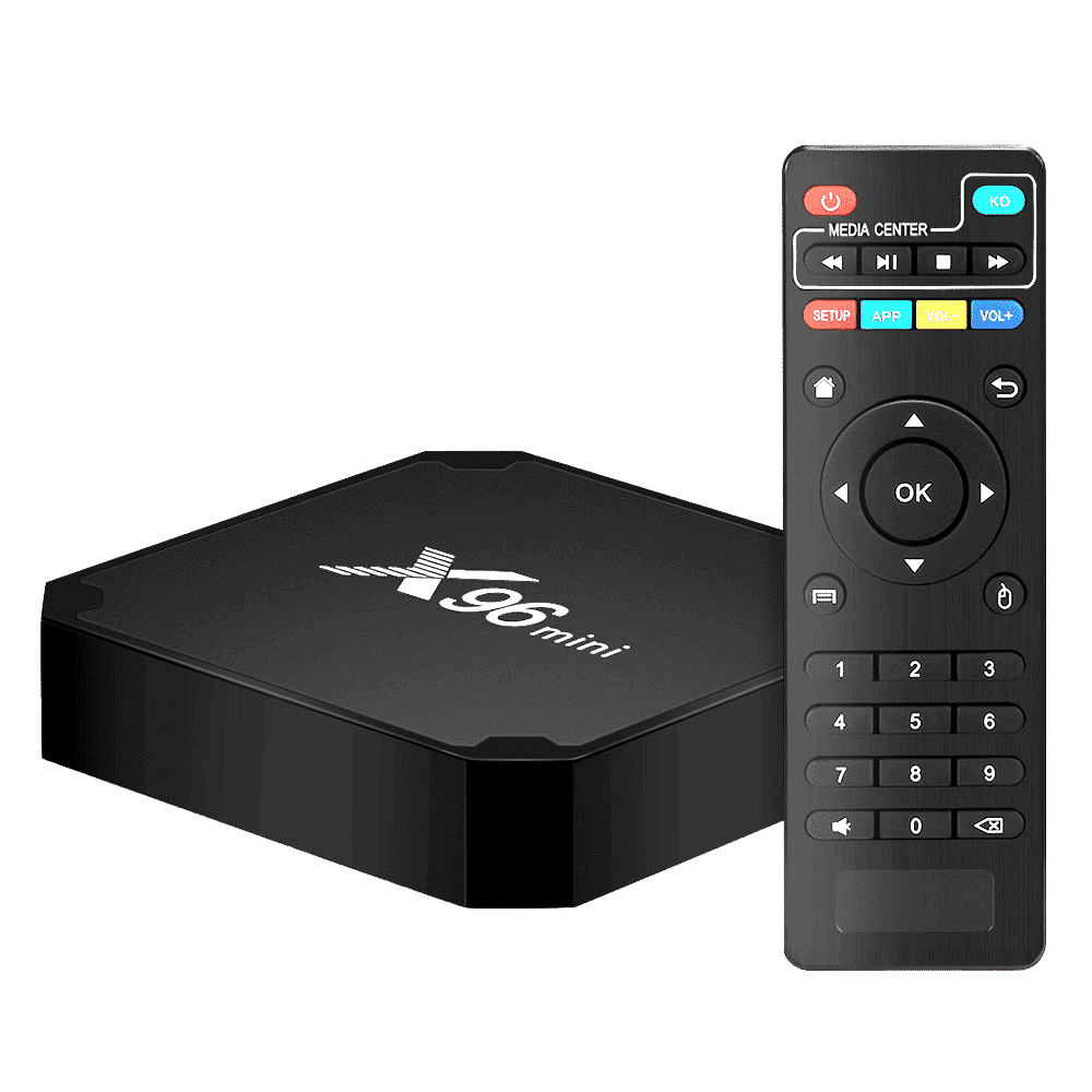X96 Mini Android 7 Nougat Smart TV BOX - With IR Remote