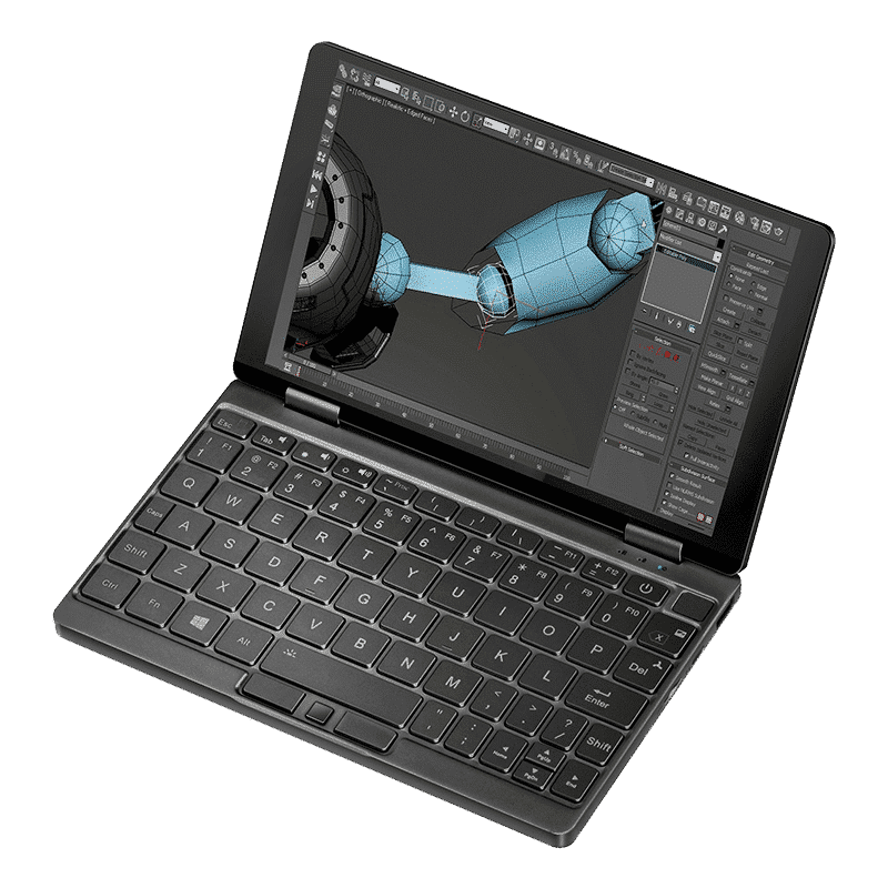 One Netbook Mix 3s Plus - Front View using AutoCAD