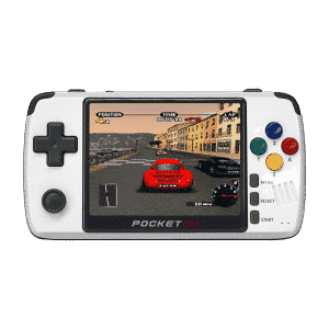 BITTBOY PocketGo v2.1 (Latest Version) - Front view playing NFS
