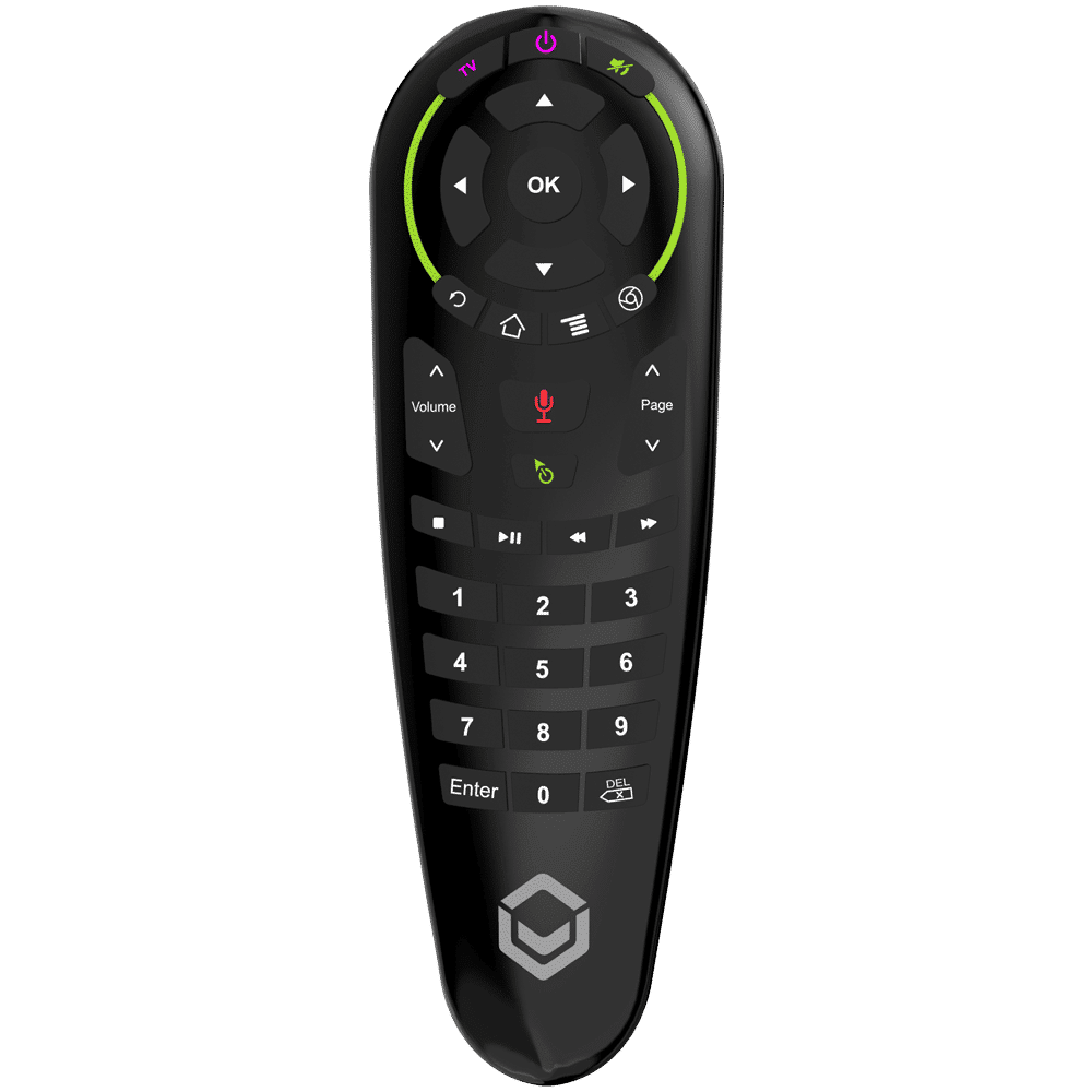 DroiX G30 Air-Mouse Remote with Gyroscope and Google Assistant - Front View