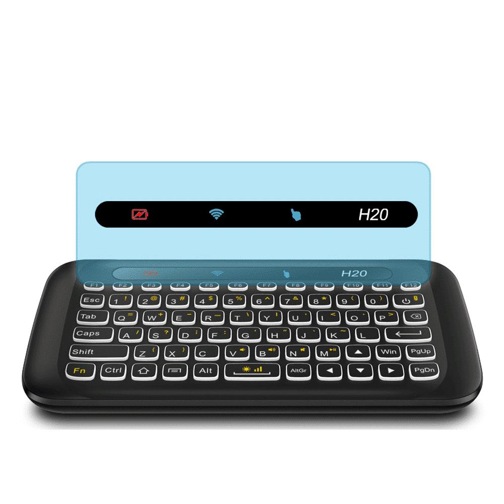 H20 Mini Keyboard with Multimedia Controls