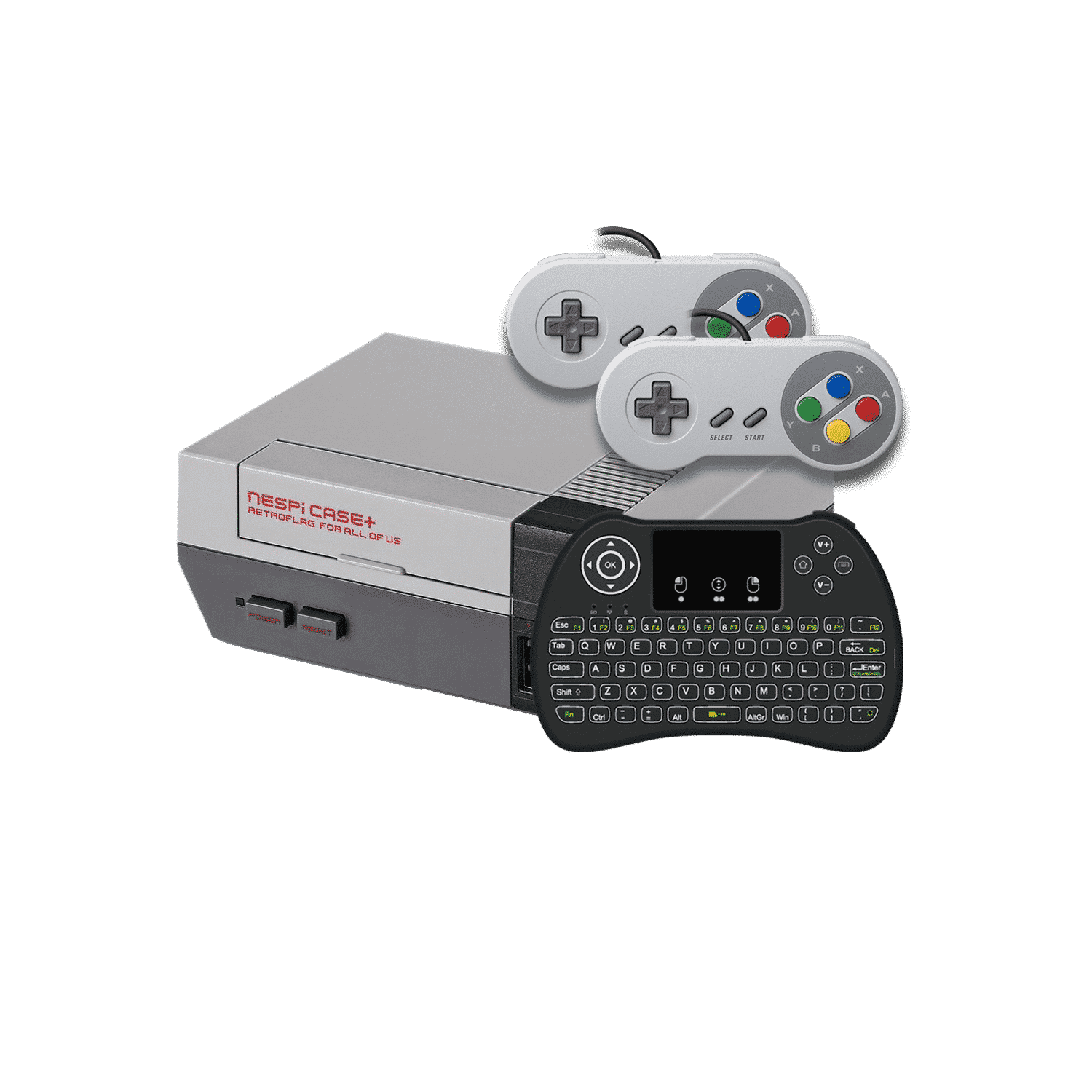 DroiX RetroPie Home Entertainment Gaming System N-LINE - With i9 Mini-Keyboard and SNES Controller