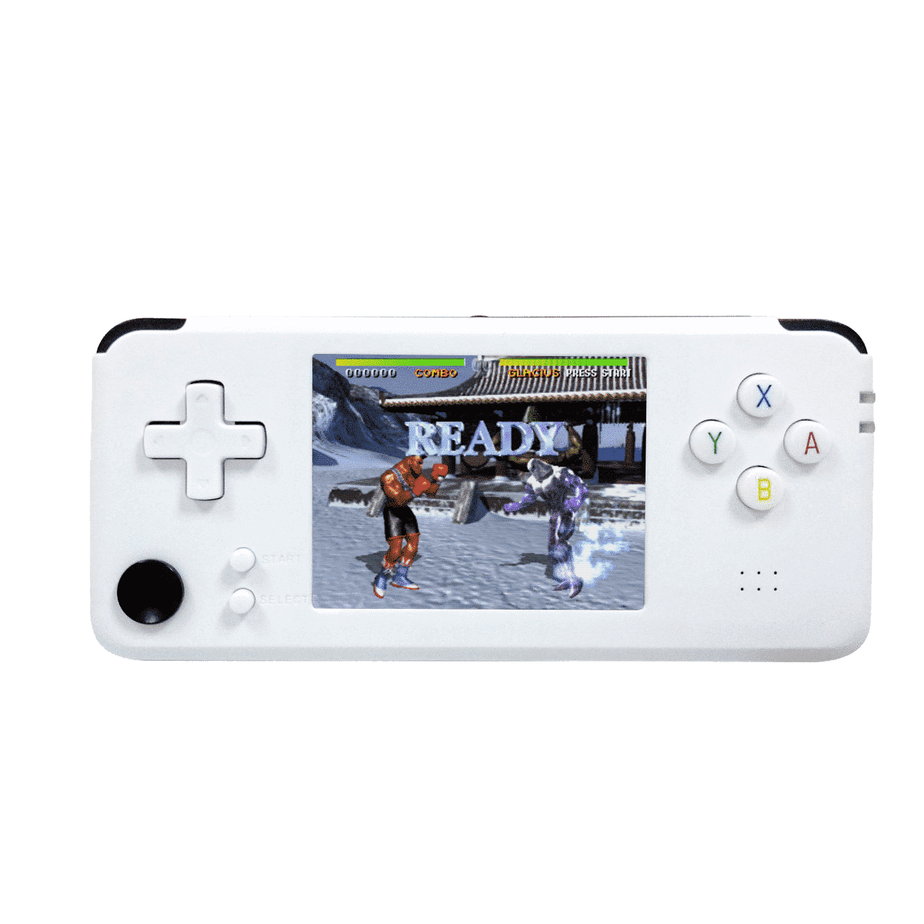 DroiX RS-97 Plus V2 Open Dingux Retro Gaming Console Handheld - White
