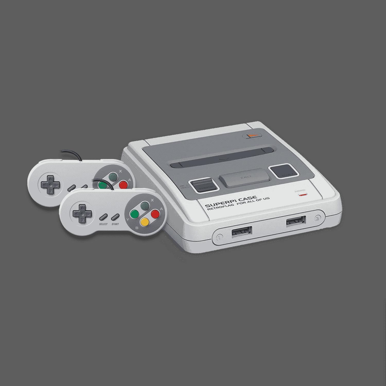 DroiX RetroPie Home Entertainment Gaming System S-LINE - 2x SNES Controllers