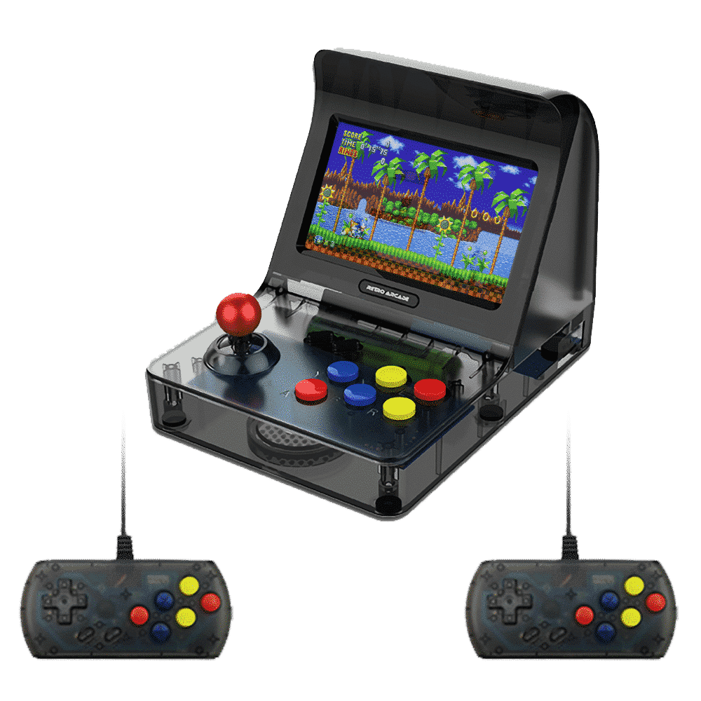 Coolbaby  RS-07 Retro Arcade Angled Photo with two controllers playing Sonic