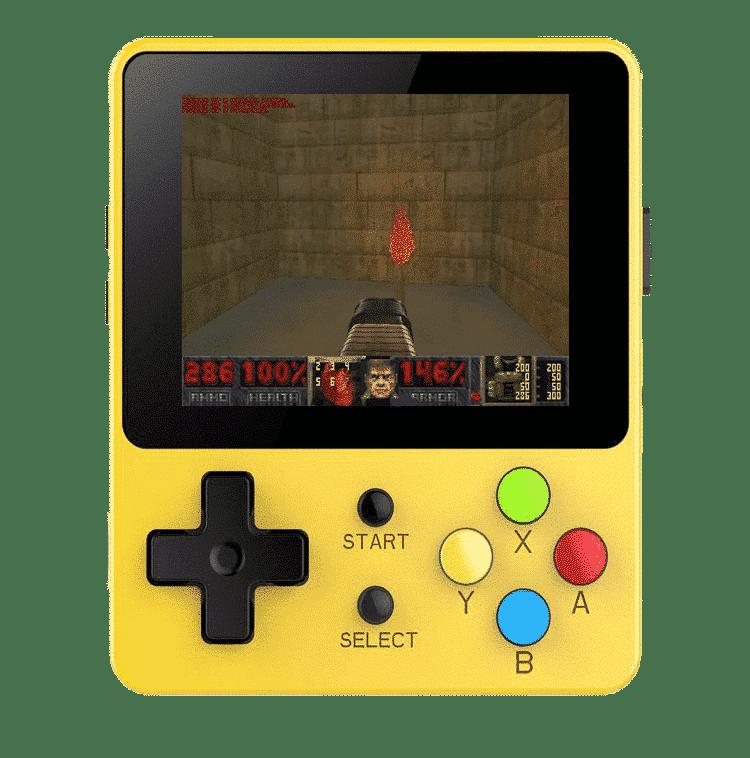 Bittboy LDK Retro Gaming Console Yellow - Playing DOOM