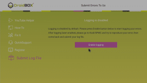 DroidBOX® Control Centre Logging can help trace issues