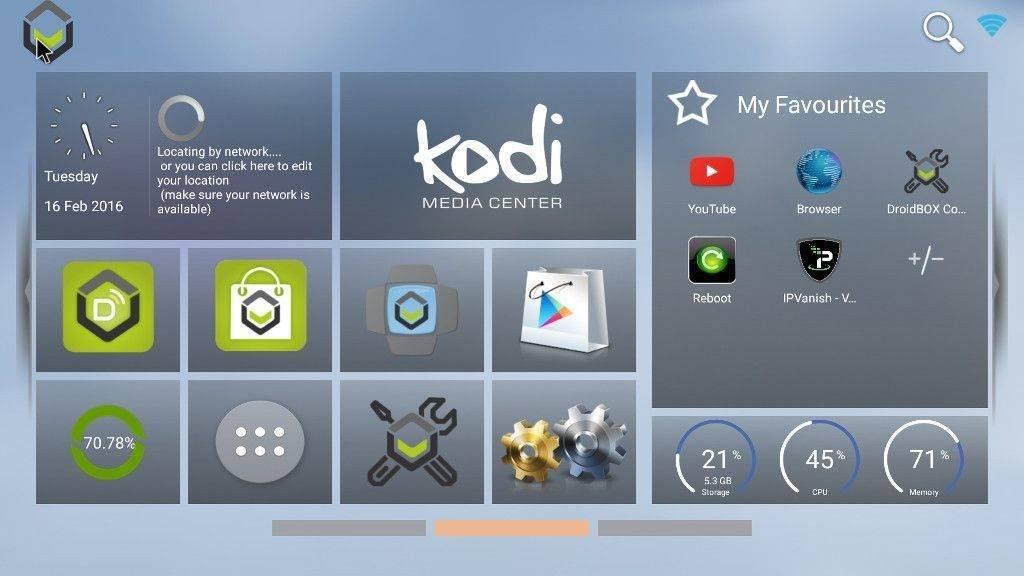 DroidBOX® Launcher Homescreen