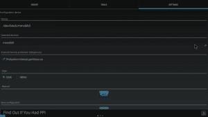 AParted Settings Screen