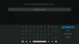 Kodi 17 LibreELEC System File Manager Add Source Label Keyboard