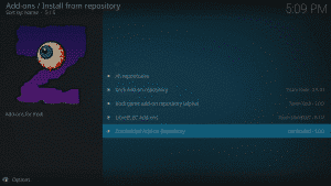 Kodi 17 LibreELEC Kodi Add-ons Install From Repository Repo Highlighted