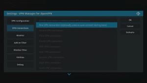 Kodi 17 LibreELEC VPN Manager for OpenVPN VPN Connections Area