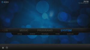 Kodi 16 LibreELEC VPN Manager for OpenVPN System Menu