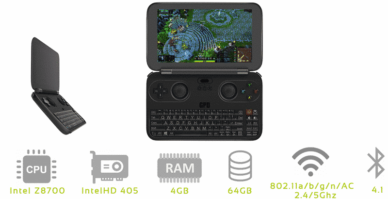 DroidBOX Win GPD Multi Angle Features