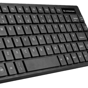 Rii RK700 Wireless Keyboard with Mouse Combo at an angle