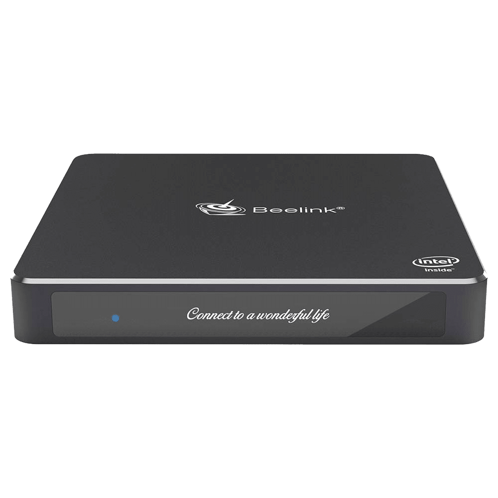 Beelink T45 Windows 10 Home HTPC Mini Computer with Intel Processor showing product front facing