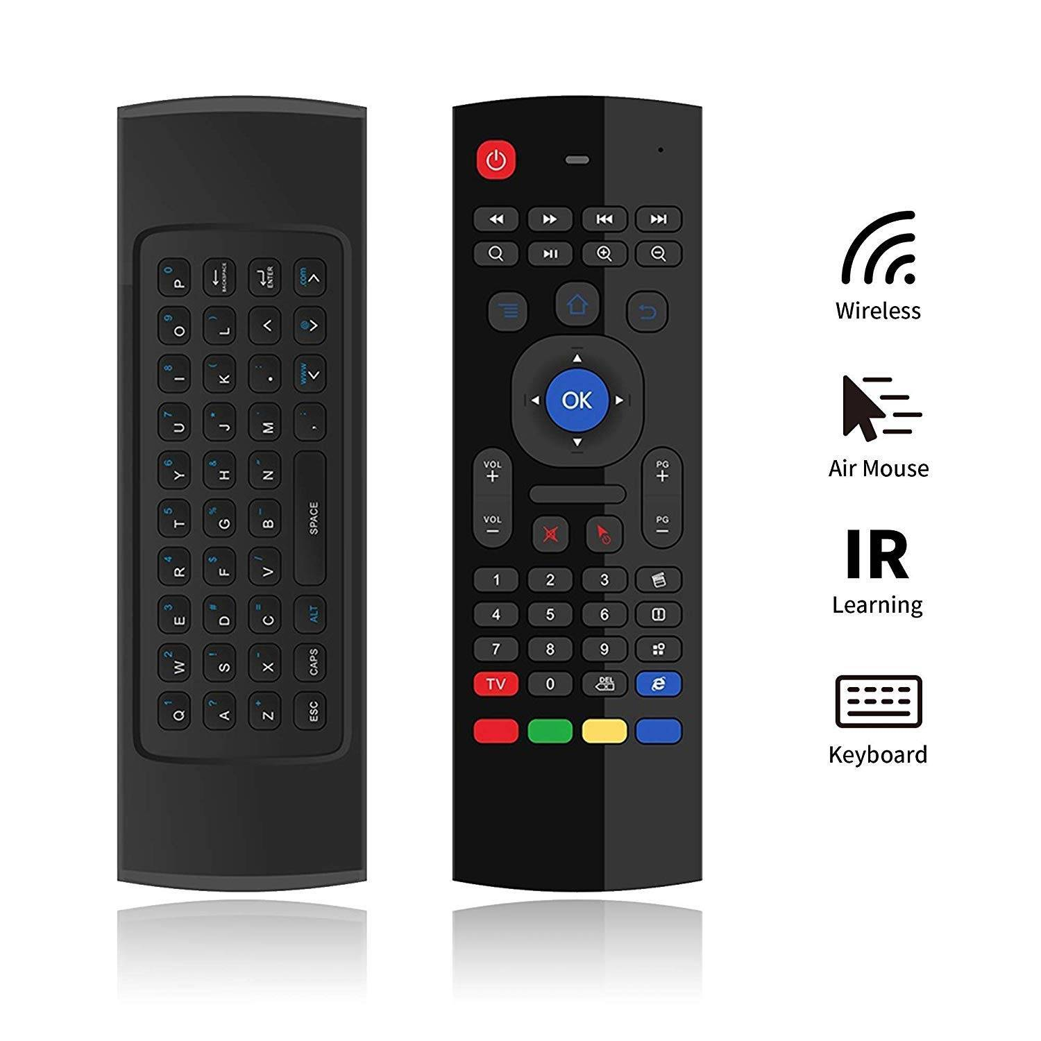 MX3 Air-Mouse Remote Controller w/ FULL QWERTY Keyboard - Features