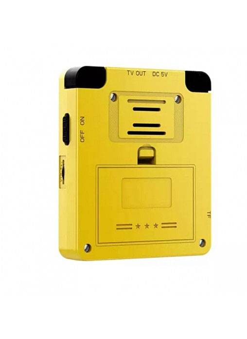 Bittboy LDK Retro Gaming Console Yellow - Showing Back