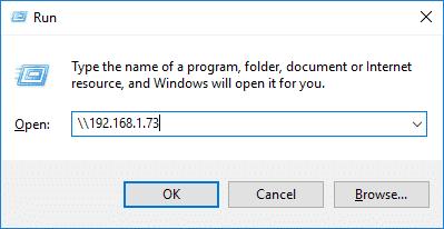 LibreELEC Device's IP Address Entered Into Windows' Run Box