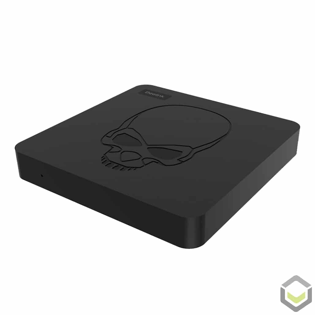 GT King by DroiX AMLogic S922X Android 9 Pie Powered TV Mini PC HTPC - Front View at an angle
