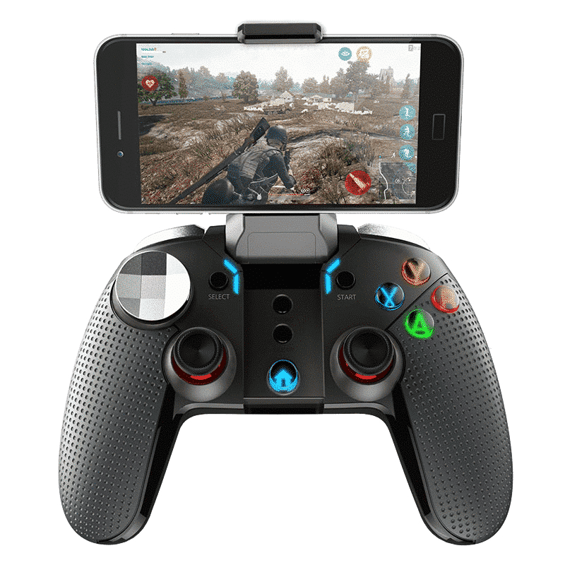 """iPega 9099 """"Wolverine"""" Gamepad - With a Smartphone in the holster playing a Game"""