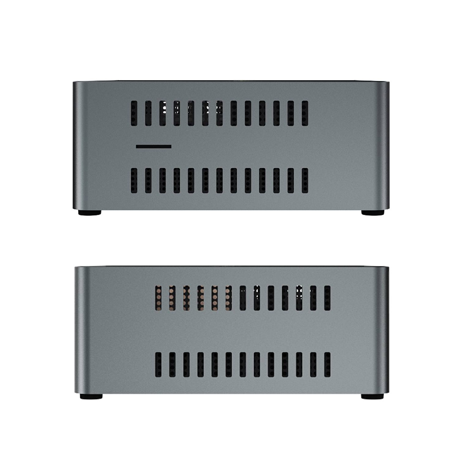 Beelink J45 Windows 10 Mini Computer for Home or Office - Side View showing Air Vents and MicroSD/TF Card Slot