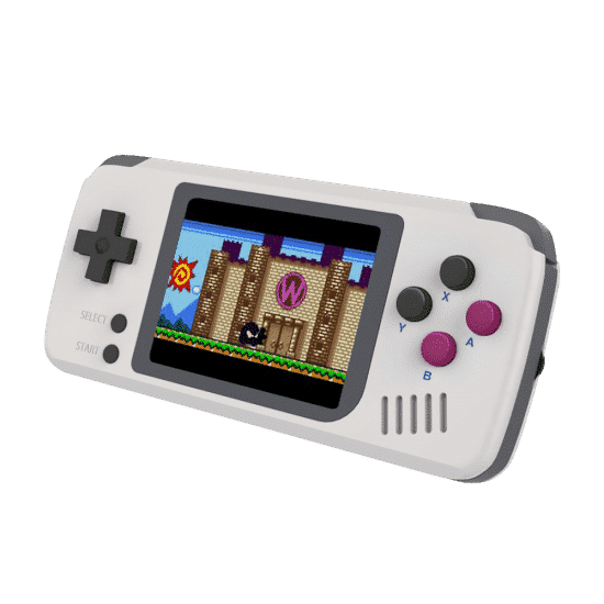 BITTBOY Pocket GO - Retro Gaming Portable Handheld Console - Angle View