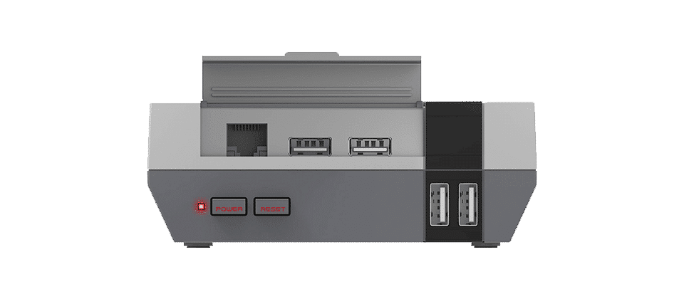 DroiX RetroPie Home Entertainment Gaming System N-LINE 128GB or 256GB - Front View - Open Lid