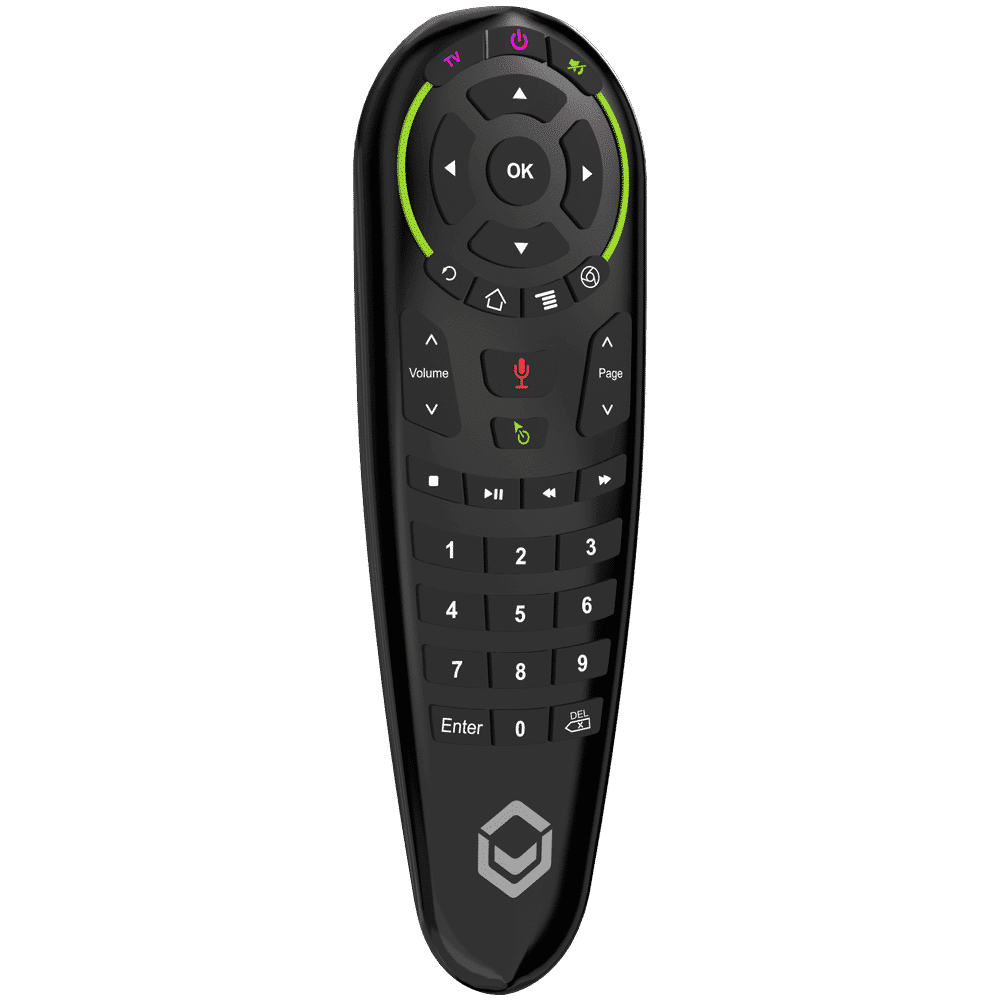 DroiX G30 Air-Mouse Remote with Gyroscope and Google Assistant - Front View at angle