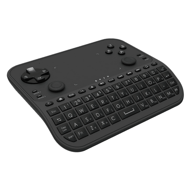 U6 Mini Keyboard with Gaming Functions Flat at an angle