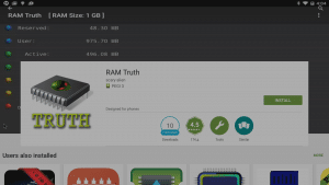 RAM Truth in Play Store Search Entry Clicked