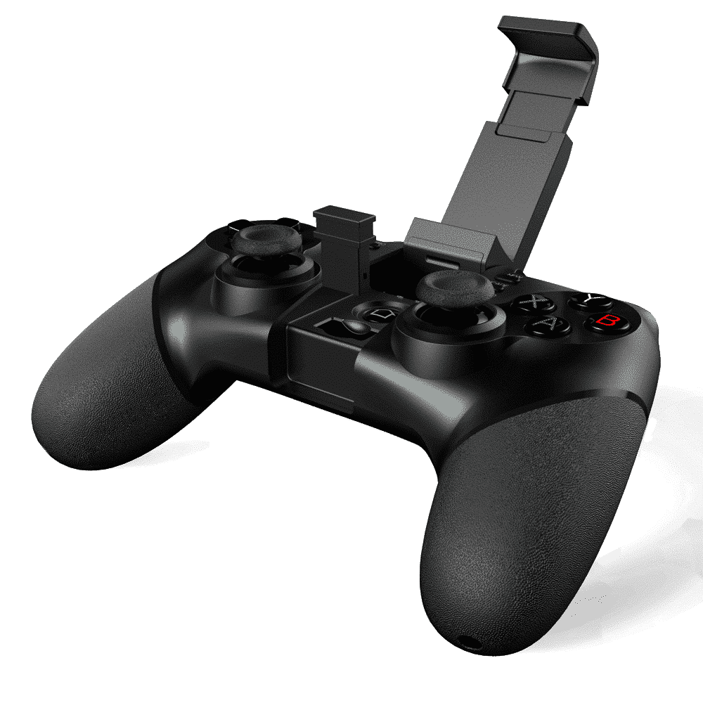 iPega 9076 Gamepad Angle-View with the Smartphone Holder Open