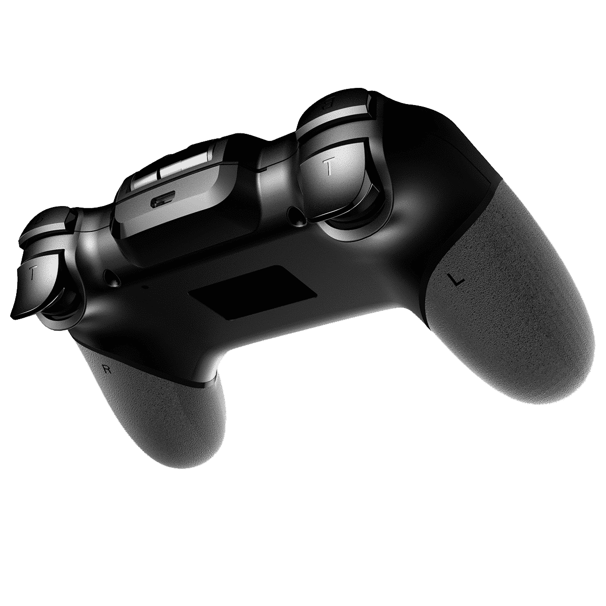 iPega PG-9156 Bluetooth and 2.4Ghz wireless Gamepad for Android, Windows and iOS - Rear View showing Shoulder Buttons